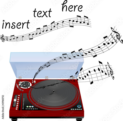 Musical turntable card