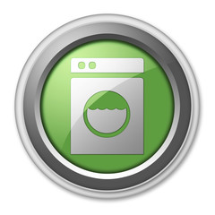 "Green 3D Style Button ""Laundromat"""