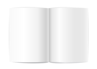 Blank book pages vector template for a content