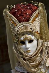 maschera carnevale viso donna oro