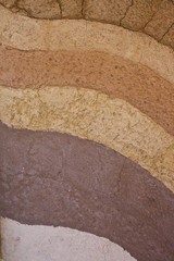 a form of soil layaer, its colour and textures