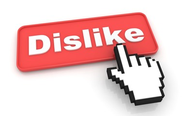 Dislike Web Button. Isolated on White Background.