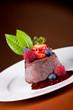 Chocolate Panna cotta with berries