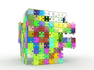 cube puzzle on white background №4