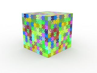cube puzzle on white background №2