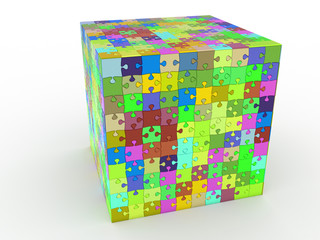 cube puzzle on white background №1