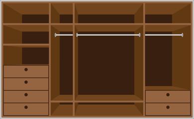 Wardrobe room. Furniture.
