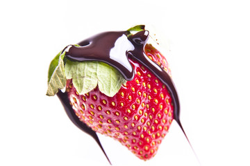 Chocolate Drizzled Strawberry