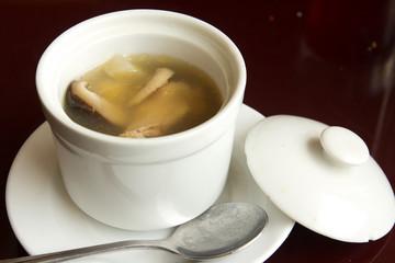 Abalone chicken mushroom soup