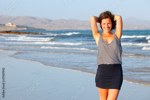 Young woman on a beach