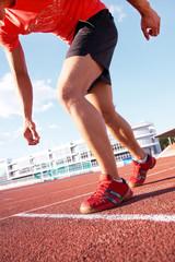 runner on stadium