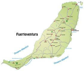 Landkarte von Fuerteventura