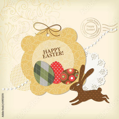Easter card, scrapbooking elements