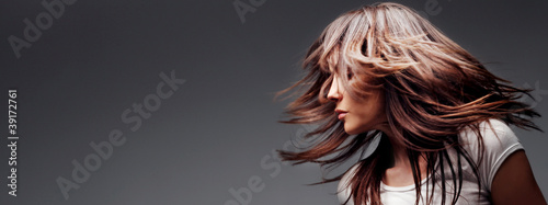 canvas print picture hair in motion