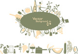 vector - elegant graphic elements for restaurant