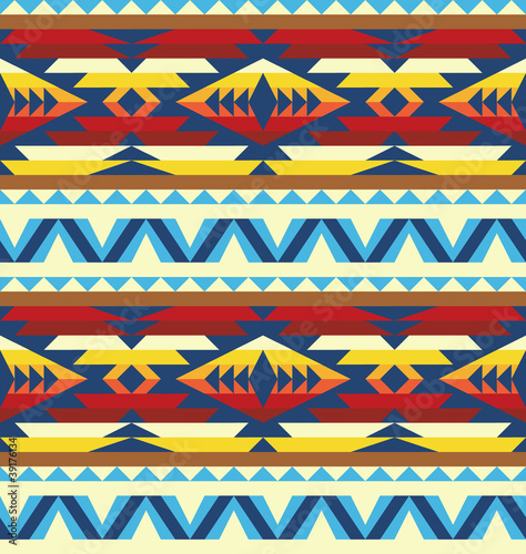 Traditional pattern in native american style
