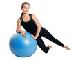fitness exercises with blue ball