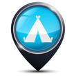 Symbole glossy vectoriel camping / Gîte