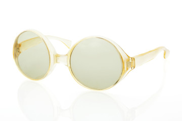 Retro sunglasses isolated.