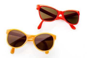 Pair of retro sunglasses.