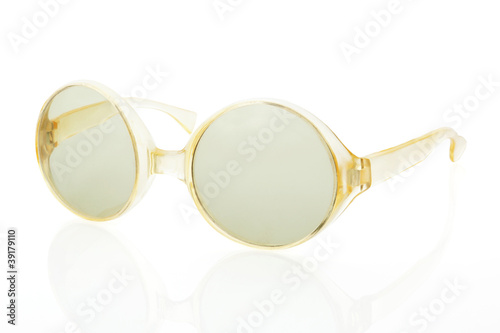 Retro sunglasses isolated.