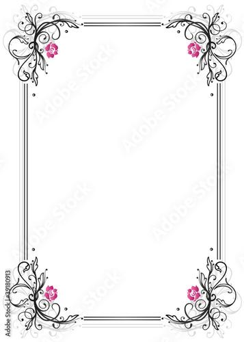 rosen ranke flora blumen rahmen schwarz pink stockfotos und lizenzfreie vektoren auf. Black Bedroom Furniture Sets. Home Design Ideas