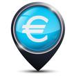 Symbole glossy vectoriel Euro