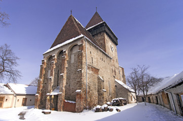 Fortified church in Transylvania Romania