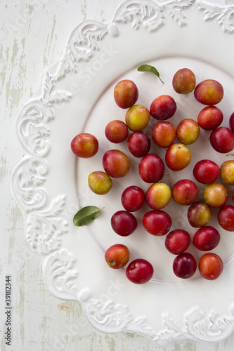 Red little plums