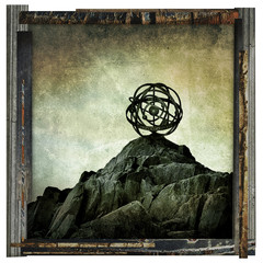 abstract rock sphere