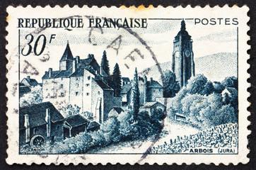 Postage stamp France 1951 Chateau Bontemps, Arbois, France
