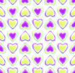 Seamless background texture made of love hearts