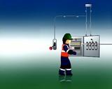 repairing electrical worker
