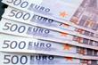500 Euro Banknoten, Noten, Geld, Geldscheine, Kapital, Vermögen