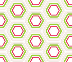 Seamless abstract hexagons background texture