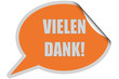 SP-Sticker orange curl oben VIELEN DANK!