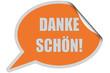 SP-Sticker orange DANKE SCHÖN!