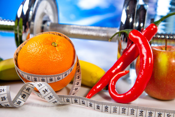 fitness and fruits