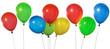 Bunte Ballons vor weissem Hintergrund