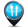 Symbole glossy vectoriel restaurant