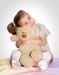 happy girl with teddy bear II