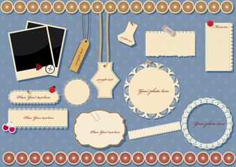 scrapbook elements. vector illustration