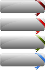 Web buttons with corners