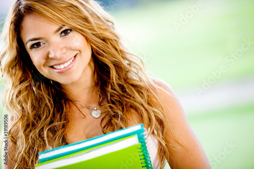 Friendly female student