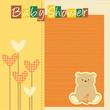 baby shower - nascita bimba - fiori cuori orsetto