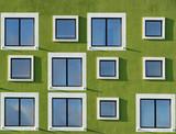 Fototapeta Fasada budynku z oknami