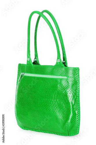 Woman accessory - stylish bag on white