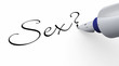 canvas print picture - Stift Konzept - Sex?