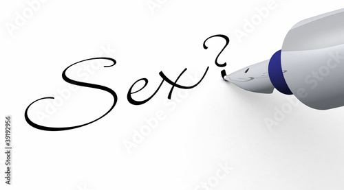 canvas print picture Stift Konzept - Sex?
