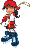 Cute tough girl hockey player